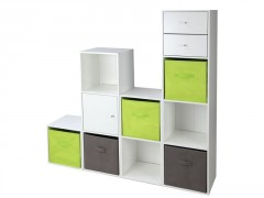 ETAGERE MULTIKAZ 2 CASES BLANC