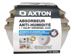 ABSORBEUR HUMIDITE MEDIUM AXTON + 1 RECHARGE GALET PERCE 500G NEUTRE